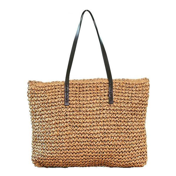 Big Capacity Straw Bags Handmade Woven Women Tote 2019 Summer Beach Bag Bohemian Women Handbag Designer Shopping Bag Lady