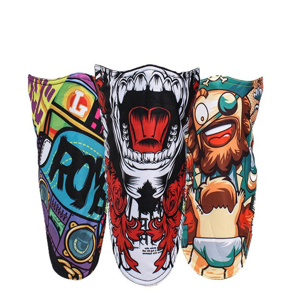 2017 Outdoor Ski Snowboard Motorcycle Winter Warmer Sport Full Face Mask Pirates 3D Printed Triangular Scarf Skiing Mask