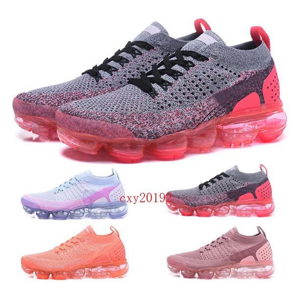 2019 Nike Air VaporMax 2.0 Red Shoes Scarpe da corsa Mango Crimson Pulse Be True Womens Knit Designer Sport Scarpe casual Taglia 36-39