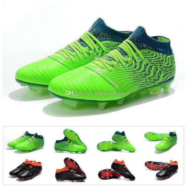Nuevo Kun Sergio Agüero One Leather 18.1 Synthetic Syn Fg Griezmann High Top para hombre Fútbol Fútbol Zapatos Botas Cleats Tamaño 39-45