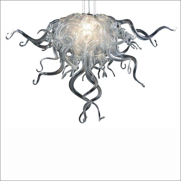 Aire libre envío Escalera Boca soplado vidrio con bombillas LED 110v-240v Garantía Lámpara colgante colorida Vidrio de Murano Arte moderno
