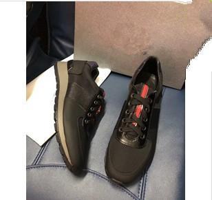 2019 Nueva marca de lujo para hombre de la arena arrugado zapatillas de deporte de cuero de los zapatos superiores bajos más el tamaño 38-45 zapatos casuales para hombre xg18091404
