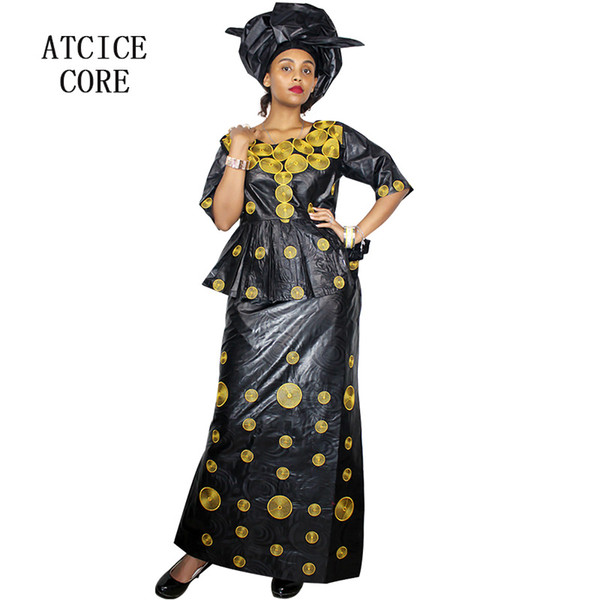 african dresses for woman bazin riche embroidery design long dress DP193