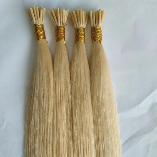 Je pointe l'extension de cheveux humains 1 g / brin 100strands / lot 613 couleur meilleurs cheveux remy de qualité pour le salon peut durer plus un année