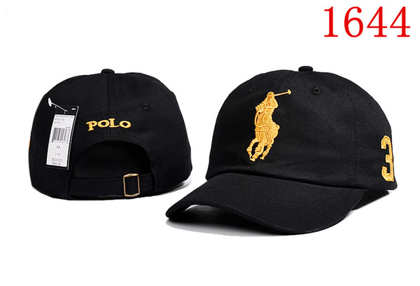 New brand Designer Dad polo Hats Baseball Cap For Men And Women Famous Brands Cotton Adjustable Skull Sport Golf Curved Hat