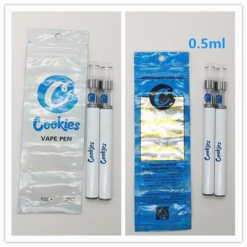 Kekspatronen Einweg Vape Pen 0,5 ml Einweg-E-Zigaretten 280mAh Batterie Starter Kit E-Zigaretten mit Patronentasche Verpackung