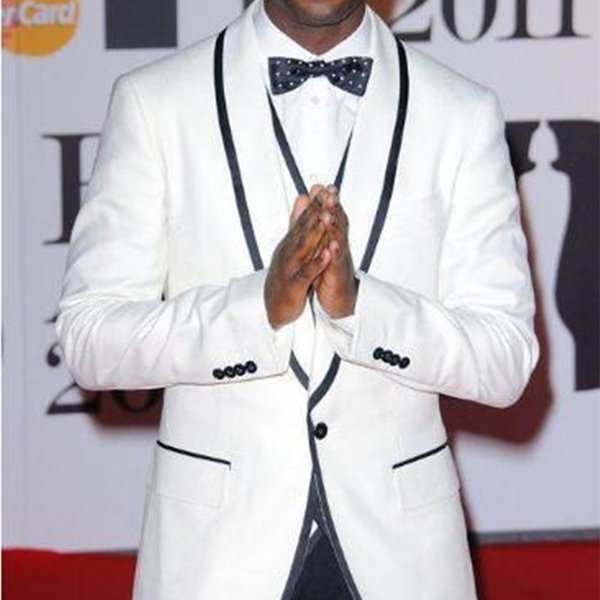 Black White Men Suit 2019 Formal Party Mens Tuxedos Suits Slim 3 Pieces Wedding Suits for Men Bespoke Vestido(Jacket+Pants+Vest) YM