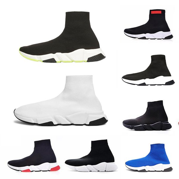 Acheter Balenciaga Remise Speed Trainer Luxe De Rêves Designer Chaussette Casual Chaussures Noir Rouge Triple Noir Chaussettes De Mode Baskets