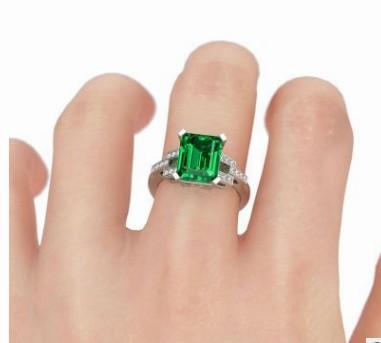 edel niedrigen preis hohe qualität großhandel 3 teile / lose diamant kristall jade 925 silber dame ringgröße 6-10 (3,5)