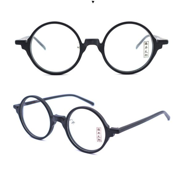 Brand Japan desgin small round retro vintage men acetate Spectacle frame Myopia Designer Glasses prescription clear lens eyeglass 8834