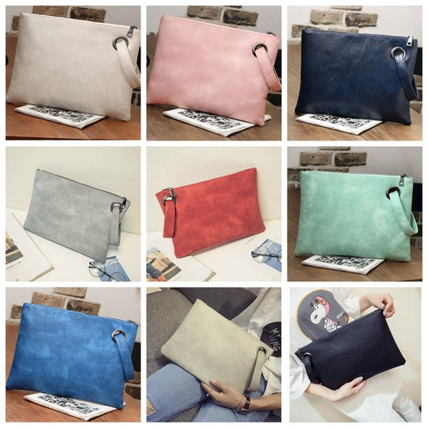 best selling 12styles Women Clutch Bag Envelope Bag Office Style PU Leather Evening Party Wedding Day Clutches Tote Fashion women gift FFA1903