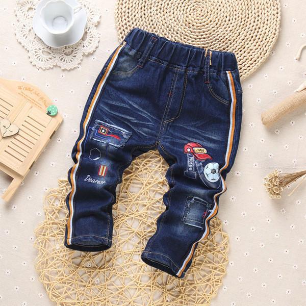 2019 New Autumn Fashion Boys Jeans Cartoon Deer Baby Casual Pants Spring Fashion Kids Jean Boy Trousers Children Denim 1-5y Y19051504