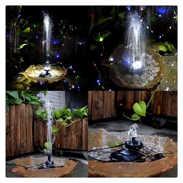 Garden Decor Fountain Pump Solar Powered Energy Saving Submersible Solar Water Pumps For Garden Pond Pools Fish Tank