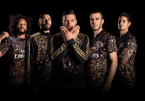 EA Sports 2020 Real Madrid futbol Eşofman ceket 19 20 Yeni BALYA Benzema ASENSIO ISCO Modric Sergio Ramos Futbol eğitim takım elbise