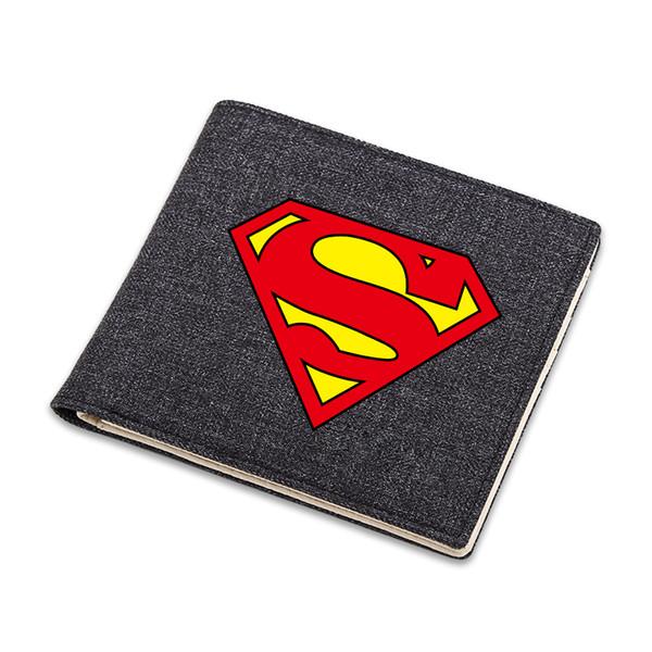 Os Vingadores DC Marvel Super Herói Carteira Superman Logo Cartum Bolsa Carteira