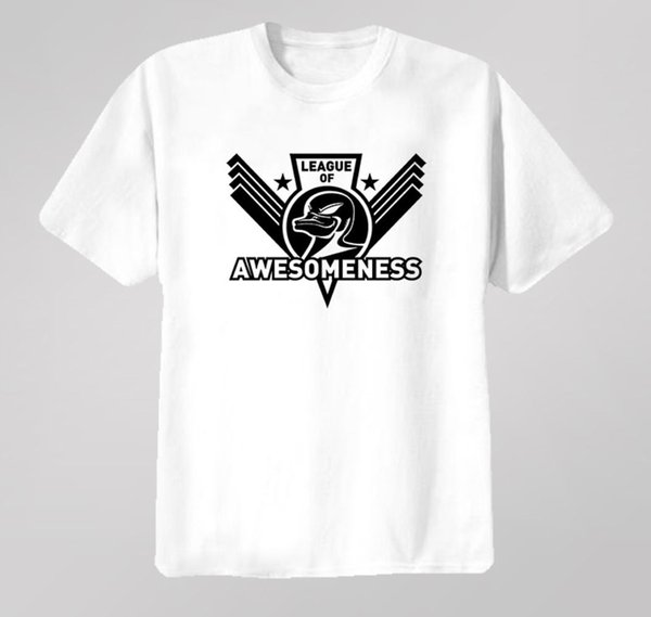 Zefrank League Of Awesomeness T Shirt Funny 100% Cotton T Shirt Brand shirts jeans Print