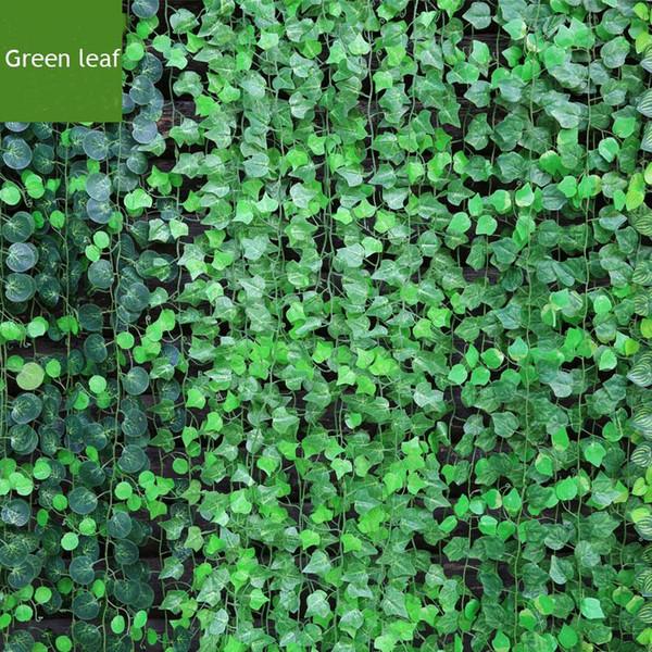 12pcs /Lot 200cm Artificial Ratten Bar Restaurant Decoration Artificial Plants Climbing Vines Green Leaf Ivy Home Decor Plants