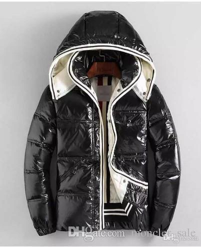 Jacken Heißer Verkauf Männer Winter Patch Daunenjacke Lässige Hip Hop Warme Trendy Jacke Männliche Weiße Ente Mann Wintermantel Schwarz