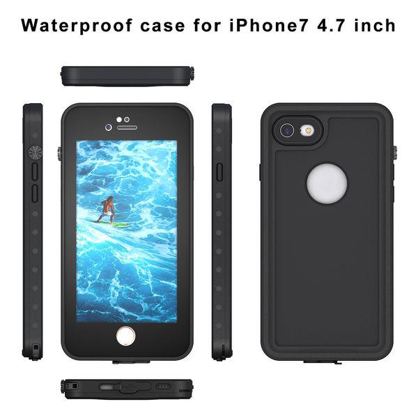 Caso à prova d 'água para iPhone 7 8 X 78plus telefone móvel à prova d' água caso mergulho anti-queda ao ar livre casos de proteção do telefone móvel itens quentes