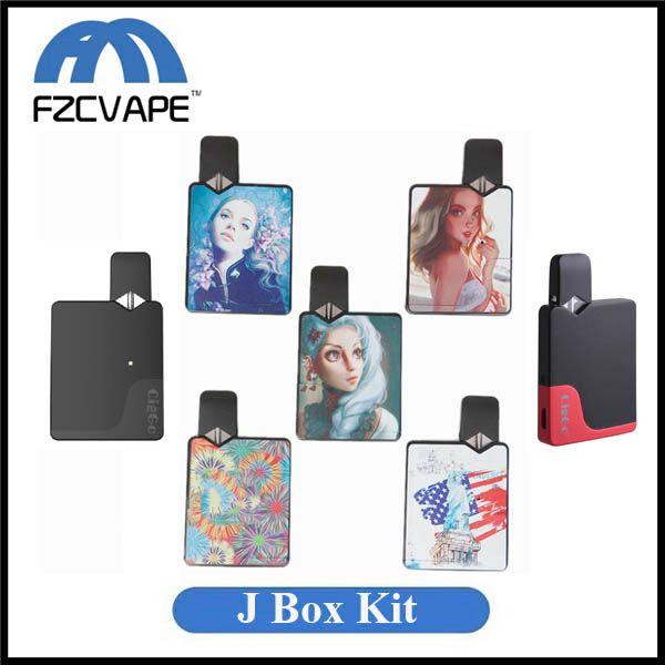 Auténtico Ciggo J Box Pod Kit 350mAh Kit de inicio para Vape portátil con cartucho de bobina de cerámica de 0.6 ml Compatible con batería de Jbox