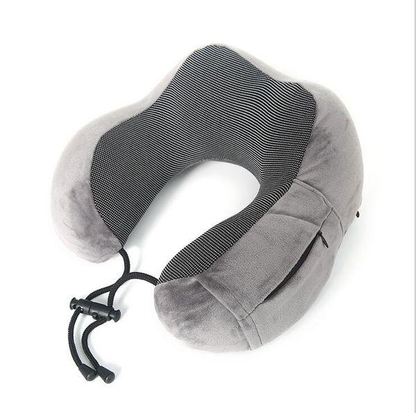 Oreiller de voyage en mousse à mémoire de forme, housse respirante confortable, lavable en machine, kit de voyage en avion avec masques pour les yeux