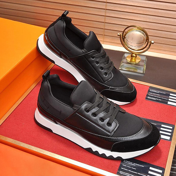 High Quality Stadium Sneaker Men's Shoes Autumn and Winter Sneakers Lace-up Soft Casual Shoes with Origin Box Zapatos de lujo para hombre