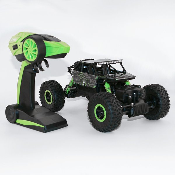 2 .4ghz Rc Car 4wd Rock Crawlers Rally Climbing Car 1 :18 Double Motors Bigfoot Car Remote Control Model Off -Road Vehicle Toy