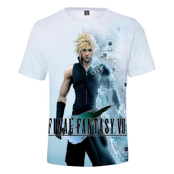 Hot 3D Final Fantasy VII t shirt Men's Cool Shirt Summer Leisure O neck tshirt Game New Print Student Final Fantasy VII Clothes