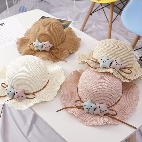 Summer kids beach caps kids butterfly Bucket hat brimmed outdoor tools 2-4 years kids label cool headgear