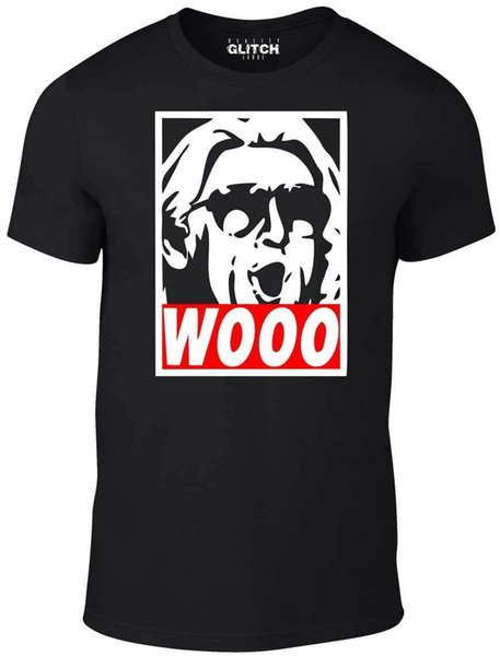 Wooo T-Shirt - Lustiges T-Shirt Retro Wrestling Nature Boy Klassiker Ric Flair Lustiges 100% Baumwolle T-Shirt