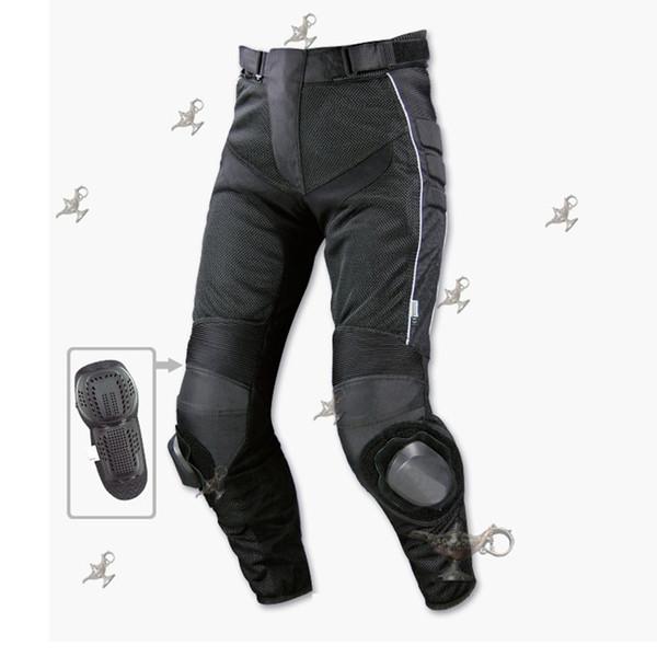 PK708 pantalones de cuero anticaídas para carreras de motos pantalones de cuero pantalones de ciclismo de motocross de verano con protectores y malla