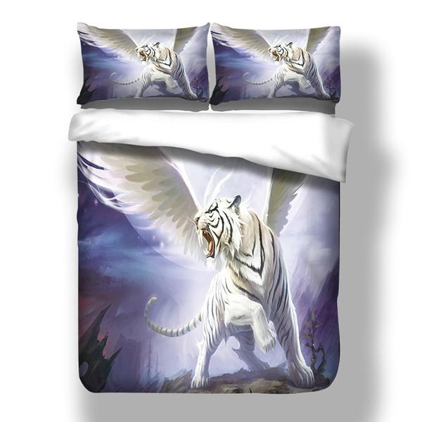 Flying tiger Digital print Bedding Set Quilt Cover Design Bed Set Bohemian a Mini Van Bedclothes 3pcs BE1255