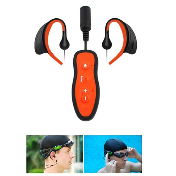 Newest Waterproof Swimming 4G 8GB MP3 Player Underwater Diving Sport HIFI MP3 Music USB Player with Stereo Bass Headphone