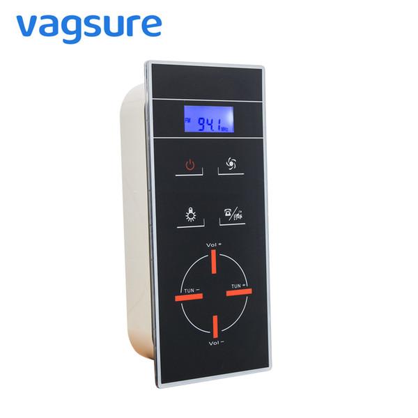 Ecran LCD Numérique Induction Téléphone à mains libres Panneau de commande de salle de douche Douche Radio Contrôleur Boîtier Cabine de douche Accessoires