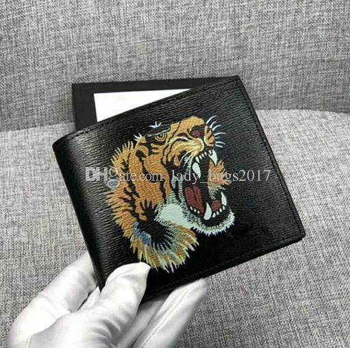 best selling Classic Men Designer Wallets Purse Real Leather Wallet Casual Short Paragraph Designer Bag Cardholder Pocket Fashion Wallet Tiger Bee Snake