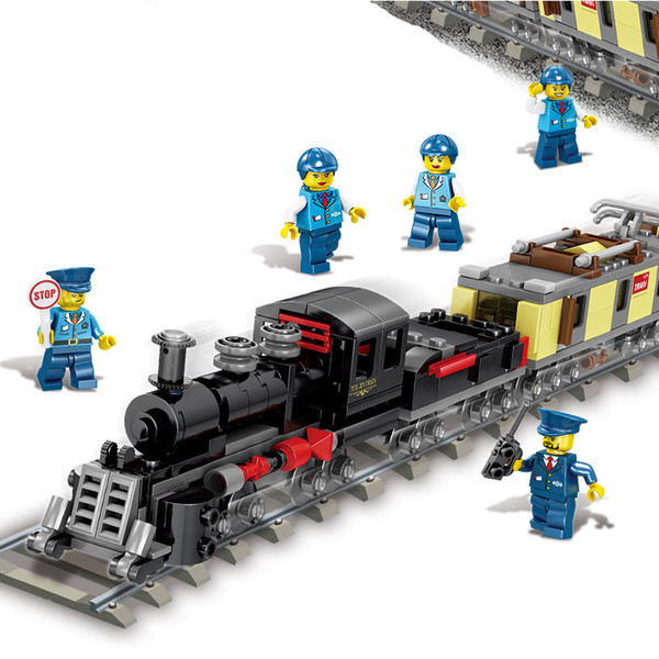 top popular KZ Train Building Block Model, 8 Kinds of Trains, each with 9 Combinations, DIY Developmental Toys, for Kid' Birthday' Party Christmas Gifts 2020