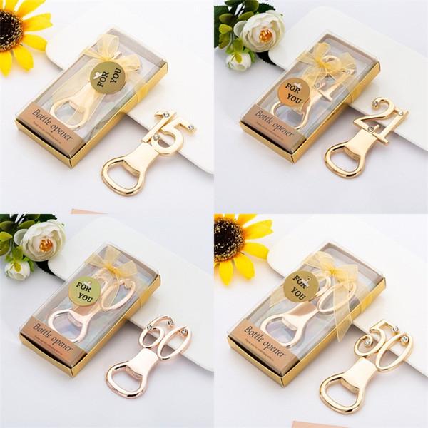 Apribottiglie digitale 15 21 50th 60th Apriscatole placcate oro Promozioni regalo portatile con qualità superiore 3lt J1