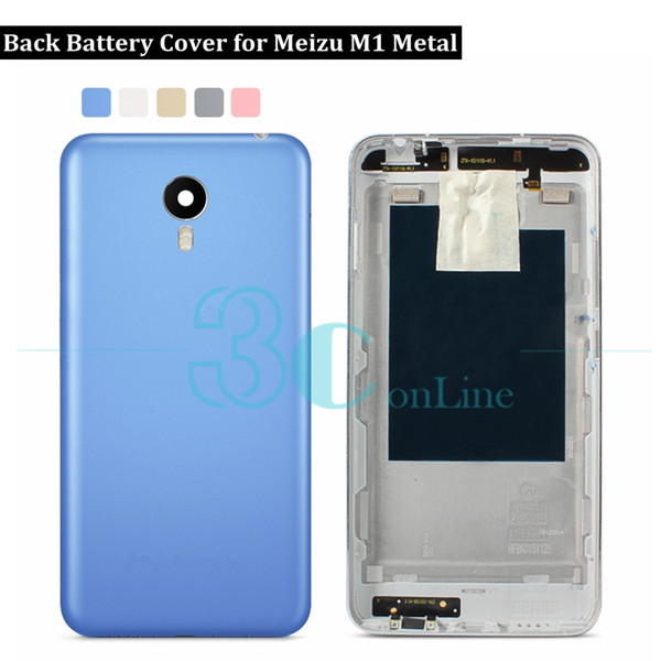 For Meizu M1 Metal Back Battery Cover Door Housing for Meizu M1 Metal & Camera Glass lens Replacement Repair Spare Parts
