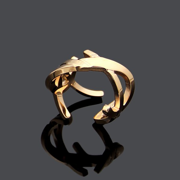 2019 new fashion Titanium steel Y ring rose gold silver women charm S letter rings men love women rings jewelry wholesale