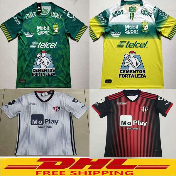 best selling 2019 2020 Club Leon F.C. Club Atlas Soccer Jersey 19 20 Atlas Home Away Football Shirts Size can be mixed batch