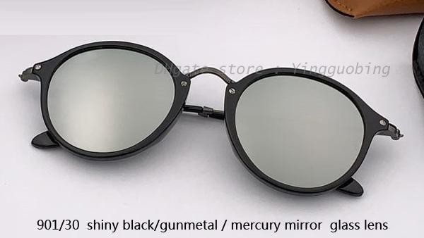 901/30 shiny black gunmetal/mercury lens