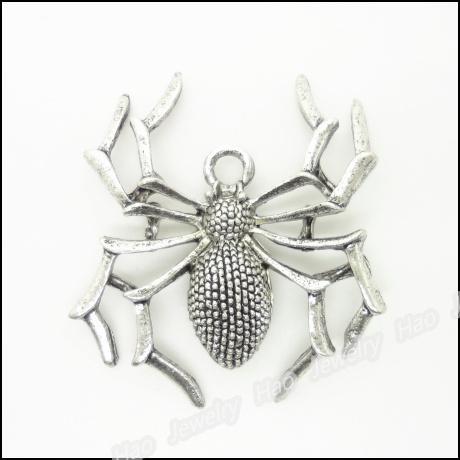 150 pcs Vintage Charms Spider Pendant Antique silver Fit Bracelets Necklace DIY Metal Jewelry Making