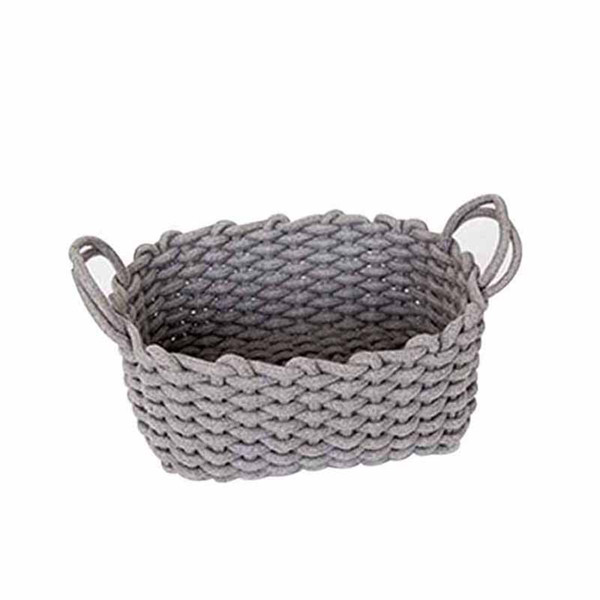Nordic Thick Cotton Rope Storage Box Clothes Laundry Basket Natural Fabric Baby Toys Storage Basket Desktop Small Organizer Bo