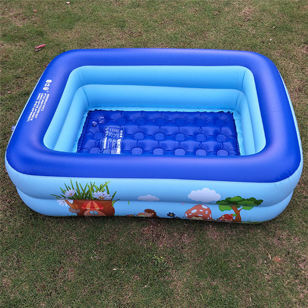 2019 Summer Outdoor Baby Cartoon Swimming Pool Inflatable Square Family  Children Thickened Playing Water Pool Kids Holiday Gifts P40 From Sportsun,  ...