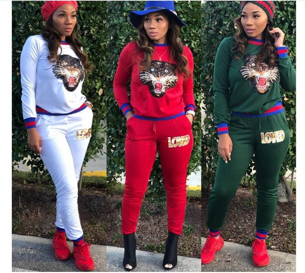 2019 women 039 equin decal port wear brand de igner clothing port uit fitne uit ribbed ca ual wear yoga jogging port wear, White