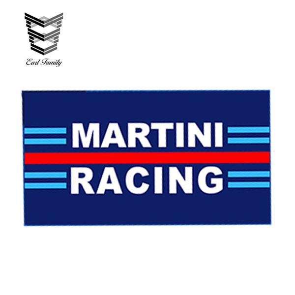 Comercio al por mayor 20pcs / lot Car Styling Vinyl Stickers Auto Car Motorsport Martini Racing Stripe Rally Car Bike Calcomanías impermeables 13 cm x 9.75 cm