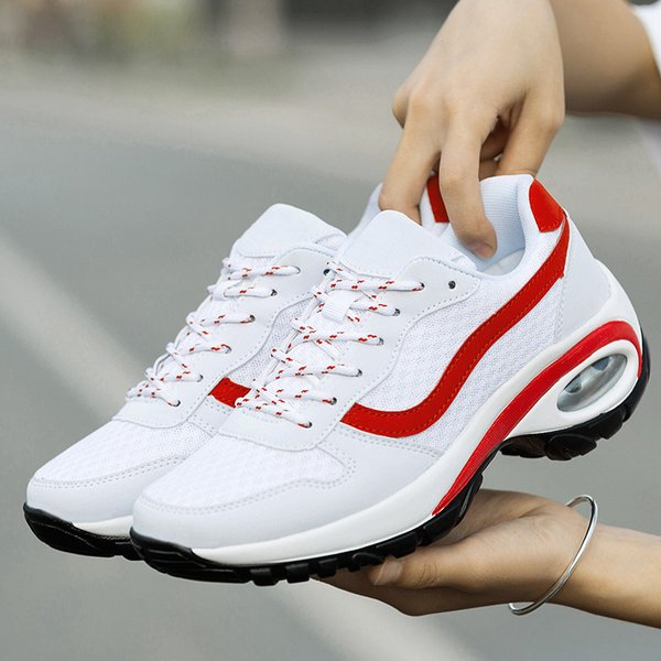 Outdoor Sport Running Shoes For Women On The Platform Black Sneakers White Tennis Big Air Mesh Women Cushioning Red Label Shoes Size 35-42