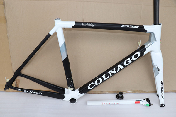 2019 New arrival T1100 ud Matte-Glossy Black Red Colnago C64 carbon road frame bicycle Frameset with 6 colors for selection