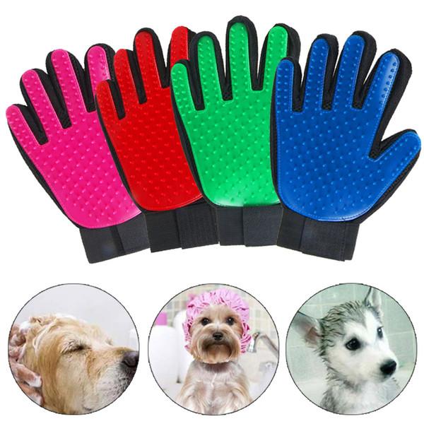 500 pcs Nouveau Pet Brosse de nettoyage pour chien peigne silicone Gant de bain Mitt Chien Chat Massage Épilation Toilettage magie deShedding Gants
