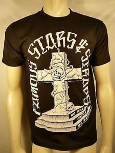 Ünlü Yıldız amp Sapanlar Sonsuza Haçlar Gitmek Zor Tombstone Punk T Gömlek S 2Xl